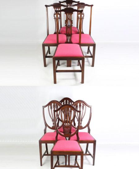 Harlequin Set 8 Edwardian Mahogany Chairs
