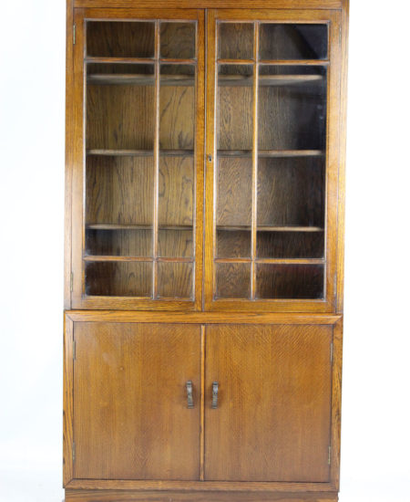 Tall Art Deco Oak Bookcase
