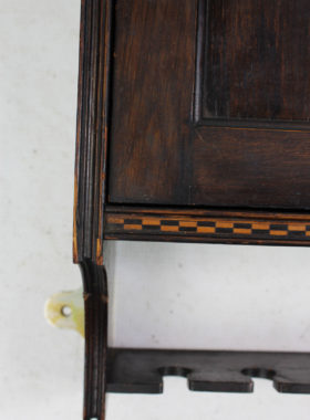 Arts and Crafts Inlaid Mahogany Hanging Cabinet