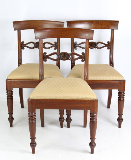 Set 3 Victorian Mahogany Chairs