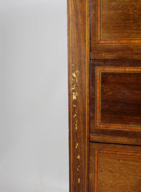 Edwardian Inlaid Mahogany Music Cabinet
