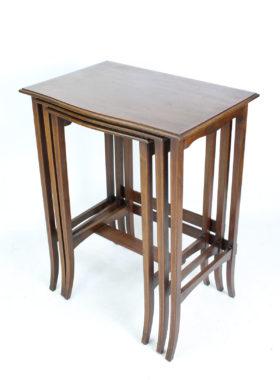 Edwardian Inlaid Mahogany Nest of Tables