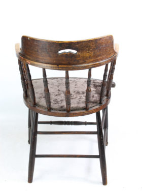 Edwardian Oak Tub Chair