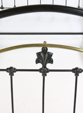 Antique Victorian Iron and Brass Bed