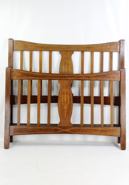 Edwardian Inlaid Mahogany Double bed