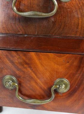 Georgian Mahogany Tray Top Bedside Table