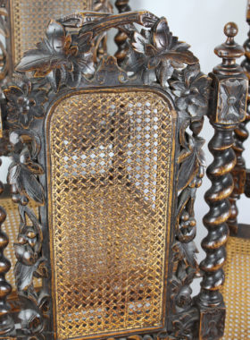Set 5 Victorian Gothic Revival Chairs