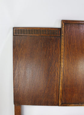 Art Deco Oak Headboard