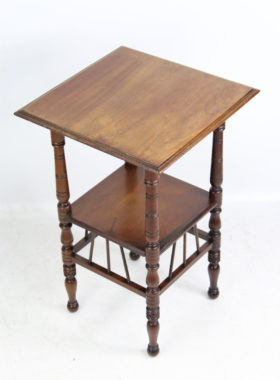 Victorian Walnut Arts Crafts Table After E W Godwin