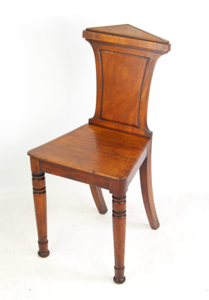 Antique Mahogany Hall Chair