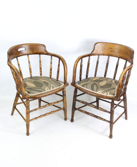 Near Pair Tub Chairs