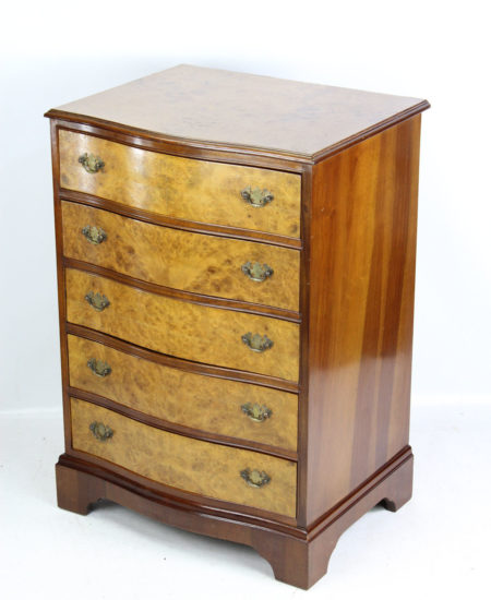 Vintage Burr Walnut Chest Drawers
