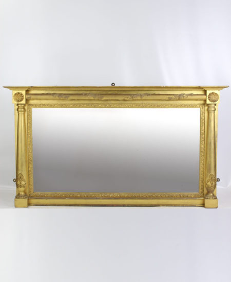Large Antique Regency Gilt Overmantle Mirror