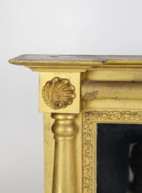 Large Antique Regency Gilt Overmantle Mirror