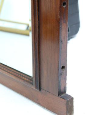 Edwardian Walnut Overmantle Mirror