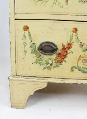 Small Edwardian Neo-Classical Painted Bureau