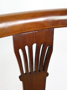 Antique Edwardian Mahogany Inlaid Tub Chair