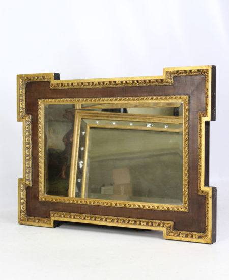 Edwardian Mahogany Gilt Mirror