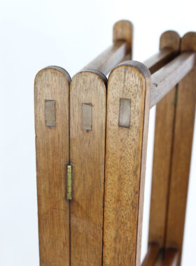 Antique Georgian Mahogany Folding Towel Rail