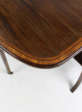Antique Edwardian Mahogany Inlaid Sutherland Table