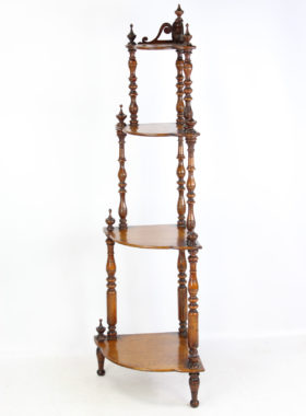 Victorian Oak 4 Tier Whatnot