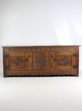 Vintage 17th Century Style Oak Sideboard