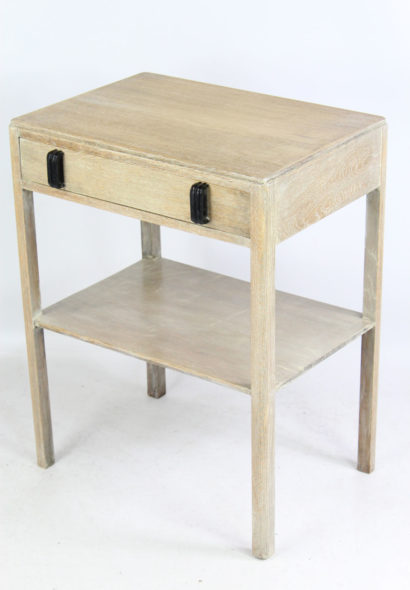 Limed Oak Art Deco Side Table