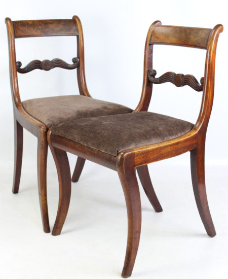 Pair Regency Mahogany Chairs