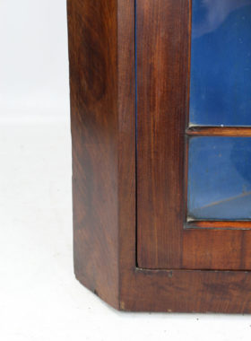 Antique Glazed Corner Cupboard