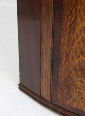 Georgian Bow Front Corner Cupboard