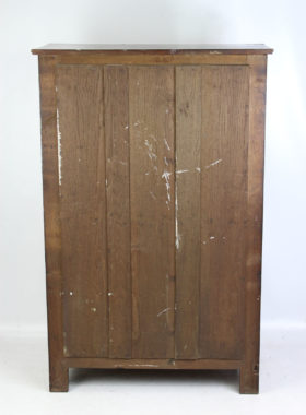 A Small Edwardian Carved Oak Court Cupboard