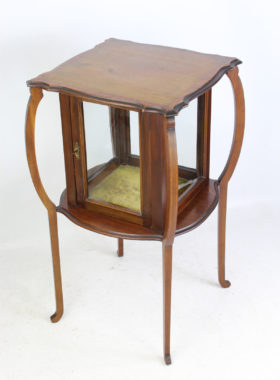 Edwardian Inlaid Mahogany Bijouterie Display Cabinet