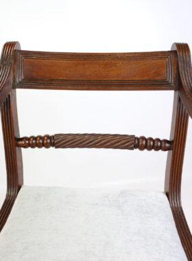 Regency Mahogany Trafalgar Armchair