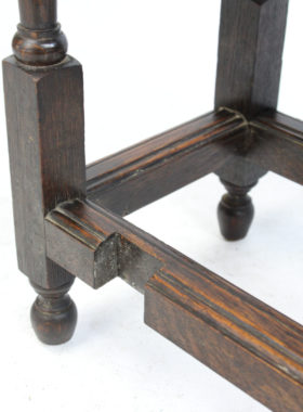 Small Edwardian Oak Gate Leg Table