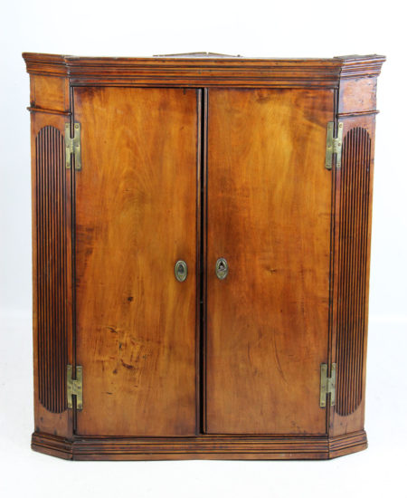 Georgian Fruitwood Corner Cupboard