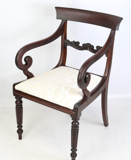 Regency Mahogany Open Armchair