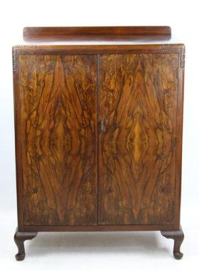 Art Deco Walnut Cupboard