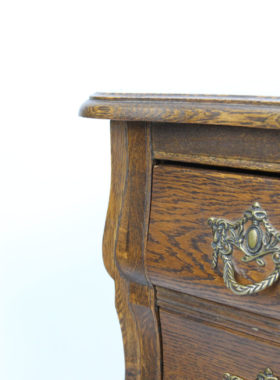 Small Vintage French Oak Chest Drawers