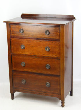 Antique Arts and Crafts Mahogany Chest Drawers