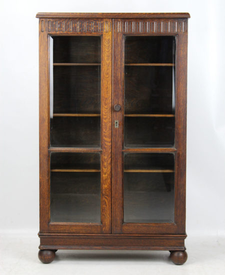 Small Vintage 1930s Oak Bookcase