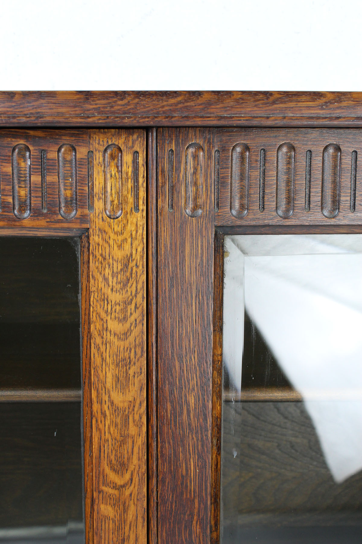 Small & Slim Vintage Oak Bookcase
