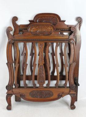 Antique Victorian Walnut Single Bed