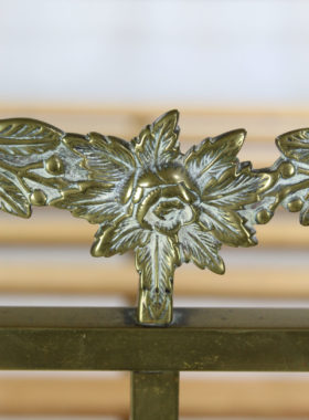 Antique Edwardian Brass Double Bed