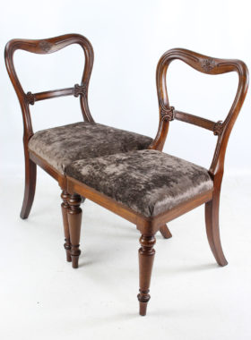 Pair Antique Gillows Chairs