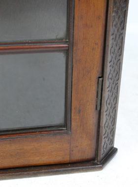 Small Edwardian Mahogany Corner Cabinet