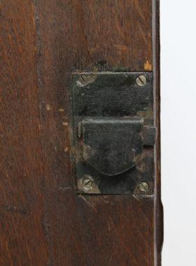 Georgian Oak Bow Front Corner Cupboard