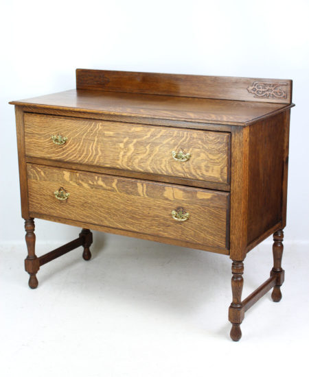 Edwardian Oak Chest Drawers