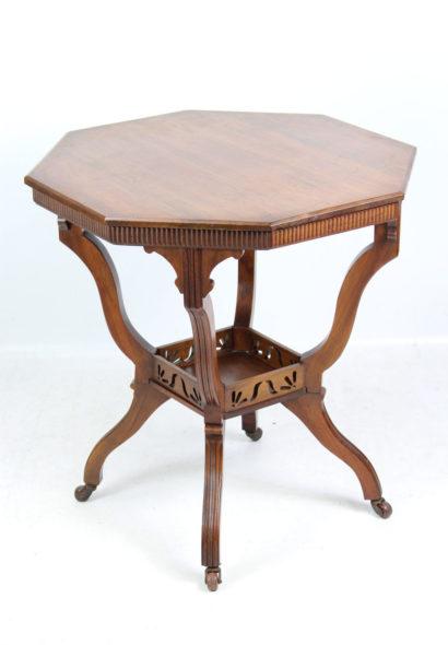 Edwardian Walnut Arts Crafts Table