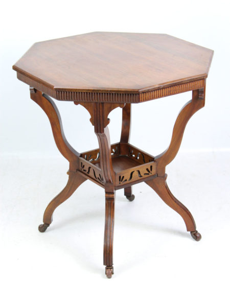 Edwardian Walnut Arts Crafts Table