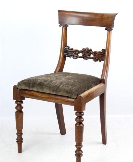 Antique William IV Mahogany Desk Chair